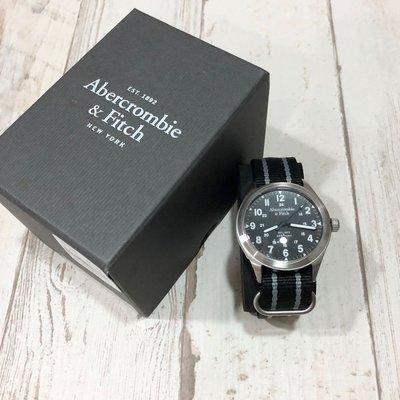 Maple麋鹿小舖 Abercrombie&Fitch * AF  男生款黑色帥氣休閒手錶 * ( 現貨 )