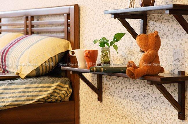 牆掛式 置物架 (106)【大綠地家具】100%印尼柚木實木/花架/層架/DIY手作風