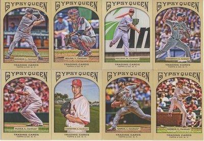 年度經典球卡~~2011 Gypsy 紅雀隊看版球星 Pujols + Musial + Wainwright 超美畫卡一套14張SP