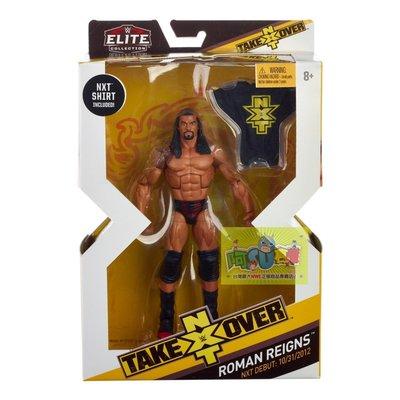 ☆阿Su倉庫☆WWE摔角 Roman Reigns NXT Takeover Elite Figure 限定款精華版人偶