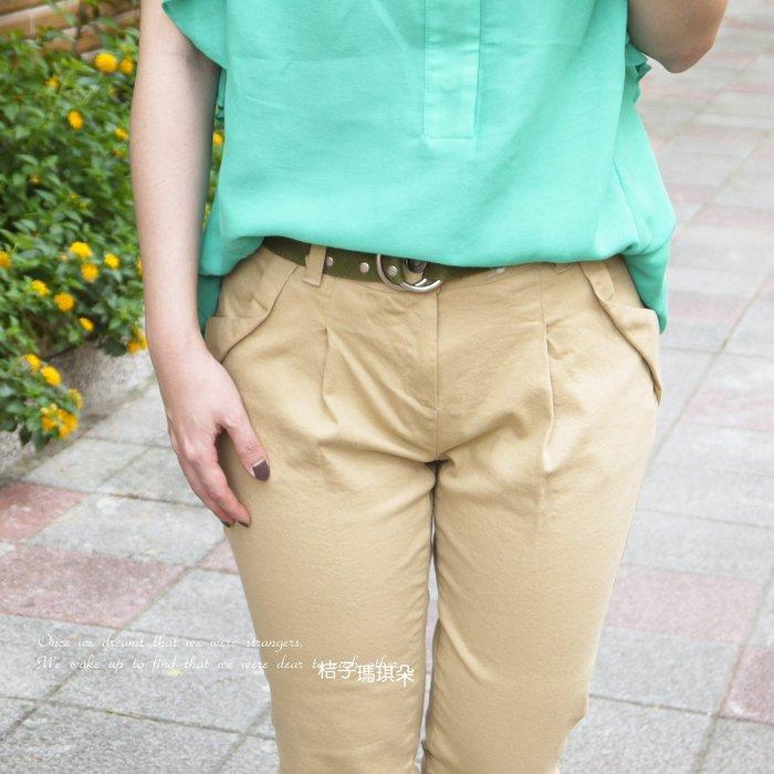 正韓 彈性挺棉 立體口袋 超修身BF褲(卡其、粉紅)~惠衣。桔子瑪琪朵