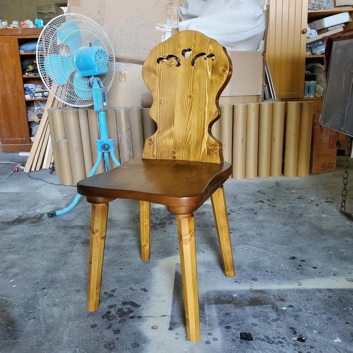 美生活館 全新鄉村風格 雲杉 靠背餐椅 工作椅 化妝椅 書桌椅
