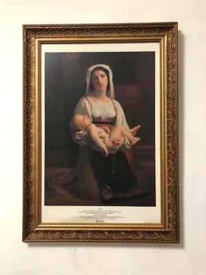 奇美博物館典藏框畫-祈願「法國 1825-1905」油彩、書布134X96公分