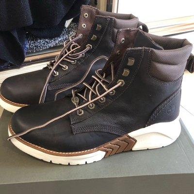 Timberland NNH地球英雄深褐色皮革運動靴US9(A286R246)