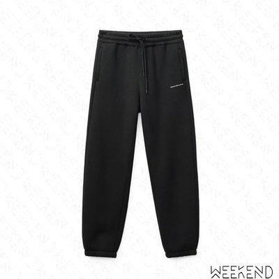 【WEEKEND】 ALEXANDER WANG Dense Logo 休閒 棉褲 長褲 黑色 19春夏