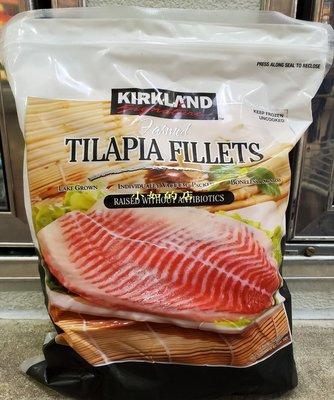 【小如的店】COSTCO好市多代購~KIRKLAND 冷凍進口吳郭魚排-去骨去皮(每包2kg)真空單片包裝