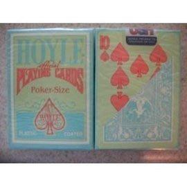 HOYLE POKER 撲克牌  綠背橘字