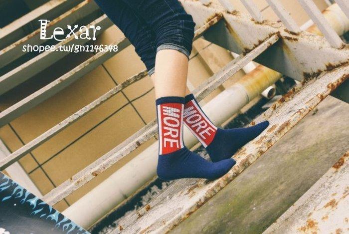 韓國ulzzang原宿滑板潮牌女襪二槓男女長襪全棉字母條紋情侶襪子