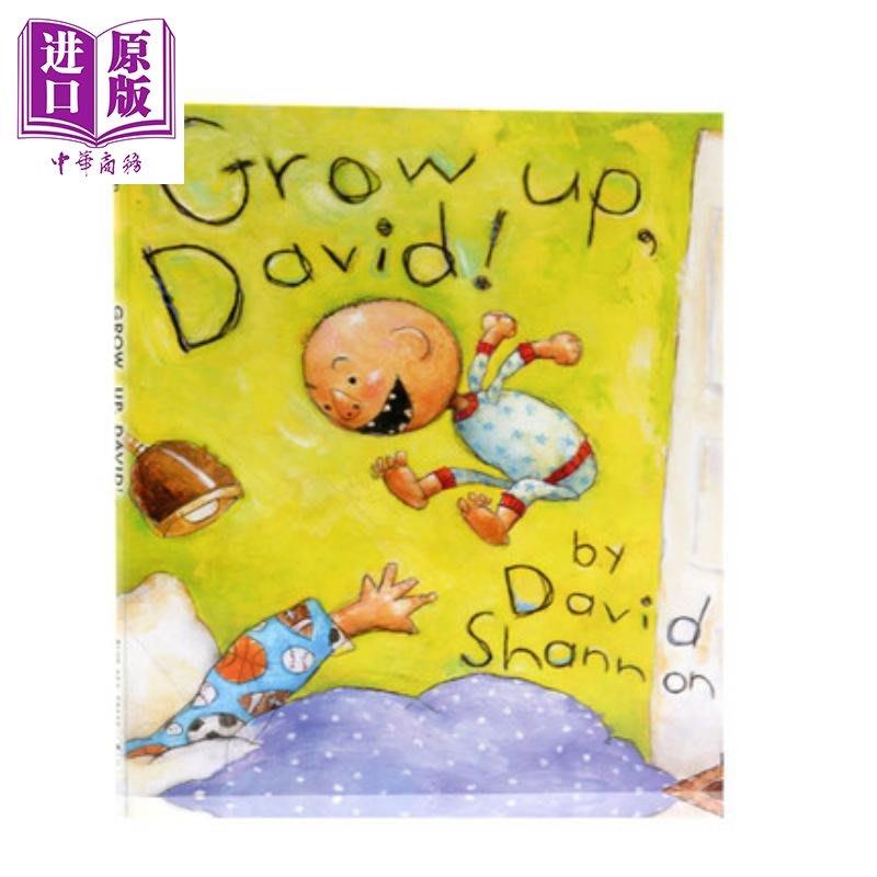大衛香農:長大了的大衛Grow up, David! 名家繪本 親子繪本 Scholastic 精裝 3~5歲 英文
