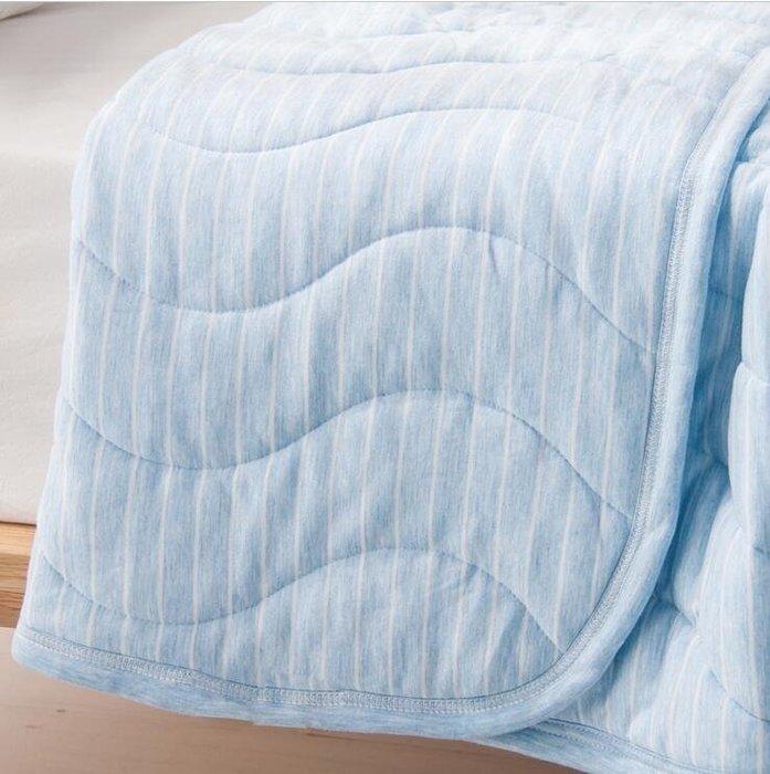 春夏莫代爾條紋柔軟針織涼感可機洗一體式夏涼被空調被子jy