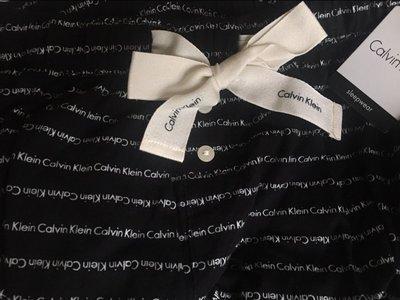CK Calvin Klein 卡文克萊 黑色棉質95% LOGO 長褲 睡褲 居家S號  愛Coach包包