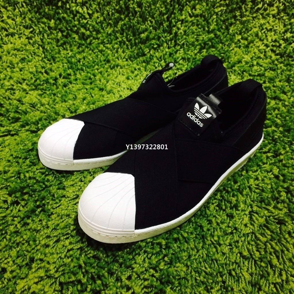 (smart)Adidas slip on 繃帶 黑 S81337 滑板潮鞋