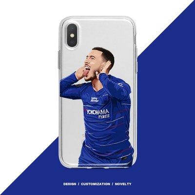 英超車路士Chelsea 球員Hazard插畫透明款式手機殼Vol.1