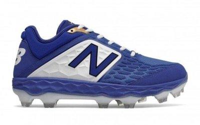 NEW BALANCE 壘球鞋 藍白