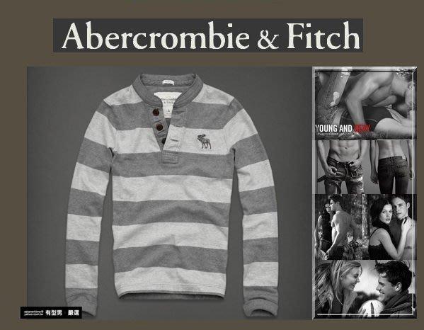 有型男~ A&F Abercrombie&Fitch 旗艦店大麋鹿 Beckhorn Trail 亨利領 M2 L2