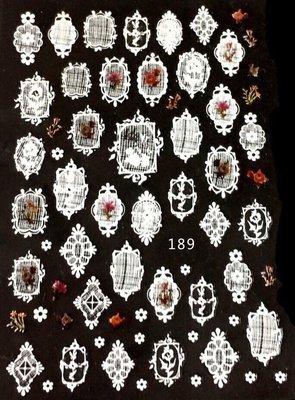 【指甲樂園nails】美甲光療貼紙 日系彩色花系列貼紙  蕾絲框 水彩花『JOYFUL』