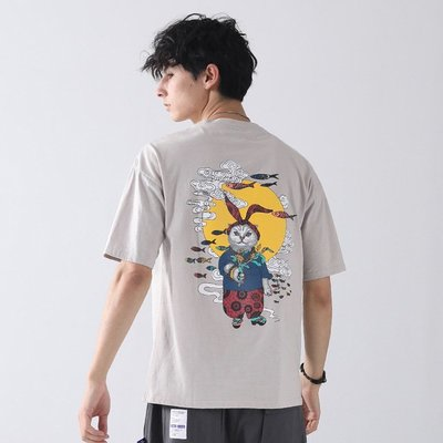鬼洗短袖T恤 夏季地藏小王男士休闲圆领半袖衫