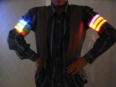 *小邑的家* 路跑、夜騎、夜跑 LED發光臂帶 LED臂帶 LED反光條 ( 魚線臂帶 )