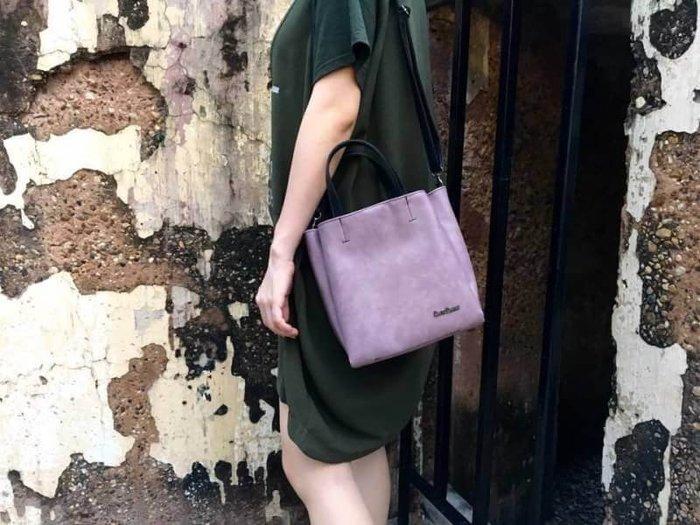 泰國正品(現貨) - 泰國大象經典斜背方包(new)-淡紫色