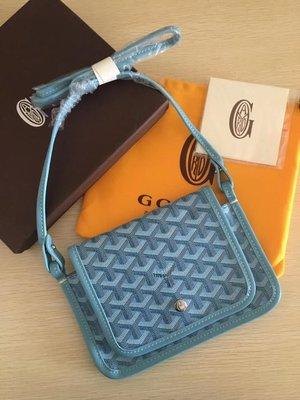 凱莉代購 GOYARD 新款三層斜背包 天藍 預購