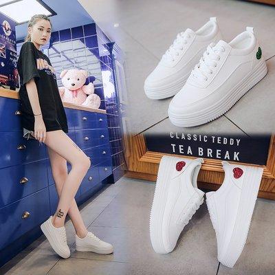 運動鞋 休閒鞋春季新款白色板鞋韓版百搭小白鞋女休閑鞋平底學生鞋女鞋單鞋