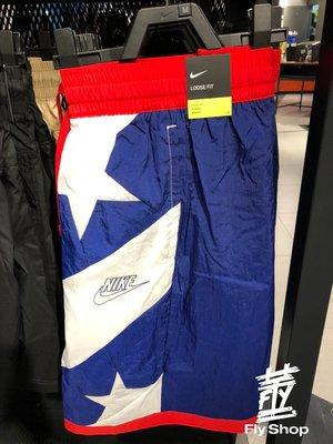 [飛董] NIKE Dri-FIT Throwback 短褲 休閒 運動 籃球 男裝 CK6312-492 白藍紅 星星