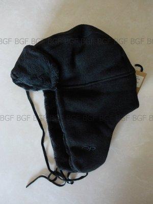 (寶金坊)美國OR Outdoor Research Longhouse Cap 透氣護耳保暖帽子刷毛絨 特厚 黑色