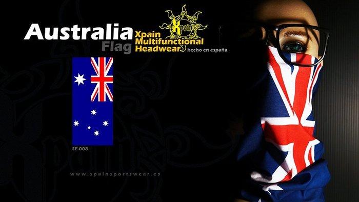 純正西班牙製造西班牙Xpain多功能頭巾 魔術頭巾 澳洲國旗 澳大利亞國旗 亦有其他國家國旗多功能頭巾 阿根廷 俄羅斯