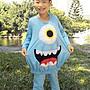 怪獸電力公司大眼仔造形服裝/萬聖節服裝造型/cosplay服裝/套裝100-130cm台灣製