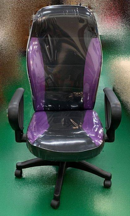 全新庫存家具賣場 EA131-5AF*新紫色網升降OA椅* 電腦書桌椅 辦公傢俱 辦公鐵櫃 北中南運送 新竹全新家具