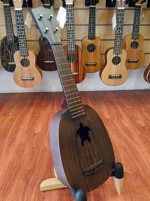 【夏威夷骨董琴】相思木單板21吋波羅桶烏克麗麗 獨特海龜響孔【夏威夷樂器 台南烏克麗麗專賣】