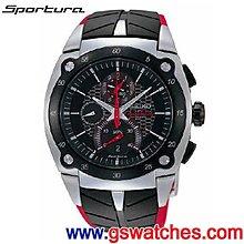 【金響鐘錶】全新SEIKO SPC009J1,Sportura,計時碼錶,藍寶石,7T82-0AF0D,公司貨