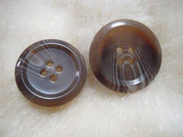 ※布箱子※ 縫紉拼布手作配件~扣子.鈕扣.釦子(DT683)~四孔~23mm~剩最後2個