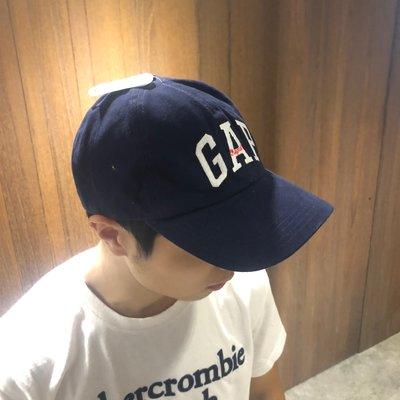 美國百分百【全新真品】GAP 配件 帽子 棒球帽 休閒 鴨舌帽 經典 logo 貼布 深藍色 AE22