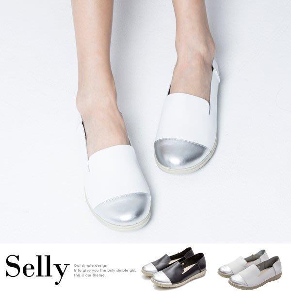 MIT系列-牛皮拼接樂福休閒鞋-2色-Selly-沙粒-(MIT161)