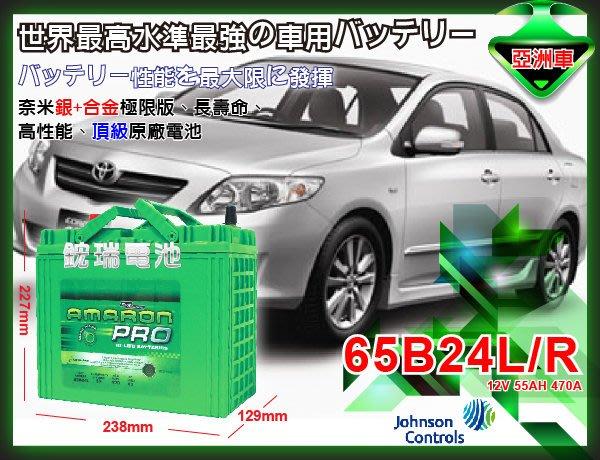 ☆鋐瑞電池☆DIY自取交換價 汽車電瓶 65B24LS AMARON電池 K12 CRV 適用 愛馬龍 汽車電池