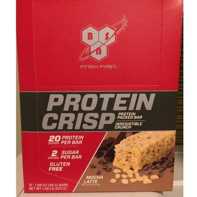 美國進口 BSN syntha-6 Protein Crisp Packed Protein Bar mocha 蛋白棒