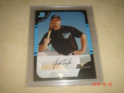 美國職棒 Padres Manager Jayce Tingler 2005 Bowman #306 球員卡