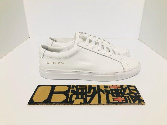 回饋老顧客 COMMON PROJECTS Achilles Low 經典款 皮革 休閒鞋 白 全白 皮革 小白鞋 男女
