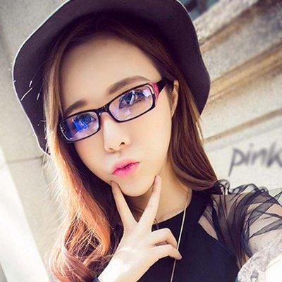 眼鏡男抗藍光平面護目眼鏡女無度數裝飾平光鏡韓版潮流