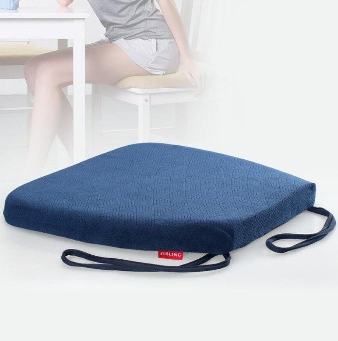 椅墊 格紋慢回彈餐椅墊坐墊記憶棉椅子坐墊辦公室圓角綁帶防滑墊椅墊—莎芭