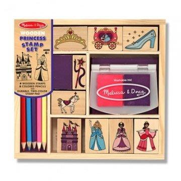 【小糖雜貨舖】美國 Melissa & Doug 木製印章組 - 公主城堡組