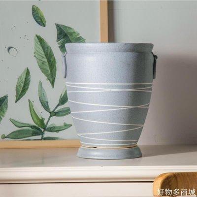 好物多商城  復古花盆高落地花瓶大號室內客廳擺件歐式花藝陶瓷花盆