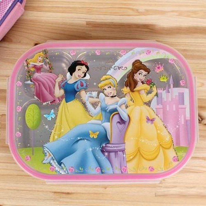 ^燕子部屋 ^ 【迪士尼】 DISNEY 公主系列 樂扣不鏽鋼餐盤