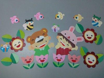 【甜欣小鋪】~手工紙雕.夏日花園(教室布置.教室佈置.壁貼)