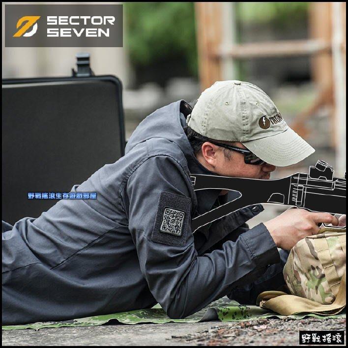 【野戰搖滾-生存遊戲】SECTOR SEVEN C4 鋒範輕型連帽外套、風衣【碳灰色】戰術上衣襯衫夾克工作服