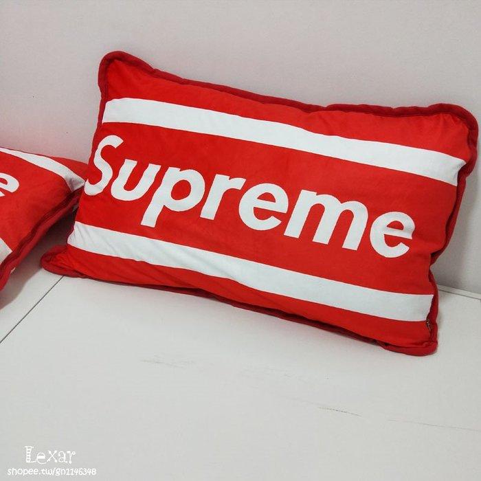 潮牌紅色枕套單人枕頭套成人個性枕罩網紅風枕頭套枕芯套sup