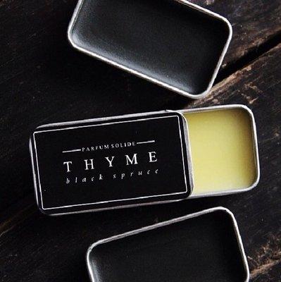 固體香膏 Thyme|穿越黑云杉 |香膏 植物淡香  固體香水 生日禮物 節日禮物