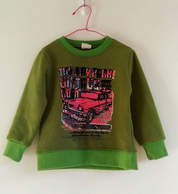 綠色厚刷毛車子上衣