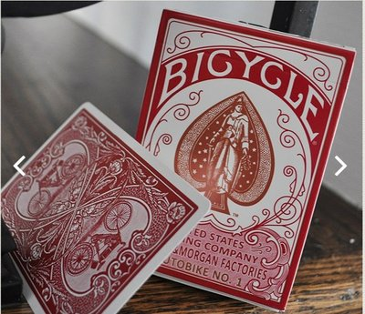 【USPCC撲克】Bicycle autobike #1 red 牌盒沒燙金